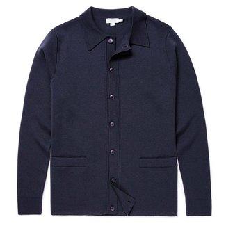 Sunspel Jacket Navy Milano Wool