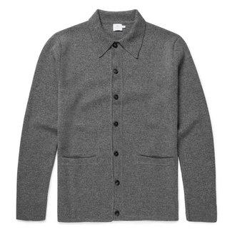 Sunspel Jacket Charcoal Milano Wool