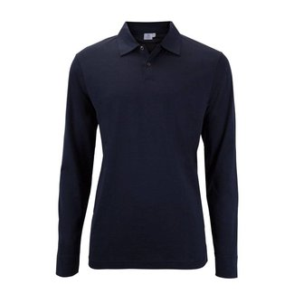 Sunspel Polo Lange Mouwen Navy