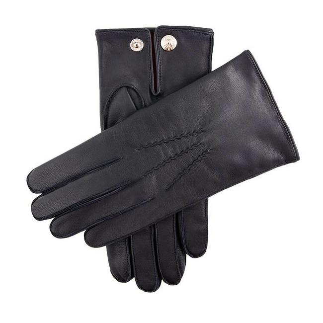 Dents Leather Gloves English Navy Burford