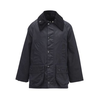 Barbour Bedale Wax Jas Jongens Navy