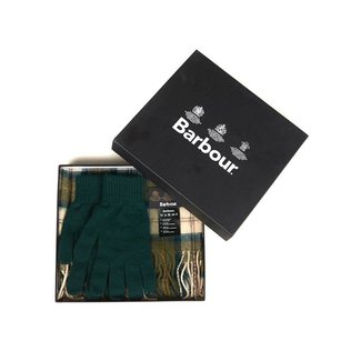 Barbour Gift Box Scarf & Gloves Ancient Tartan