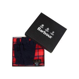 Barbour Geschenkset Schal & Handschuh Cardinal Tartan
