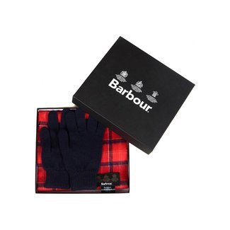 Barbour Gift Box Scarf & Gloves Cardinal Tartan
