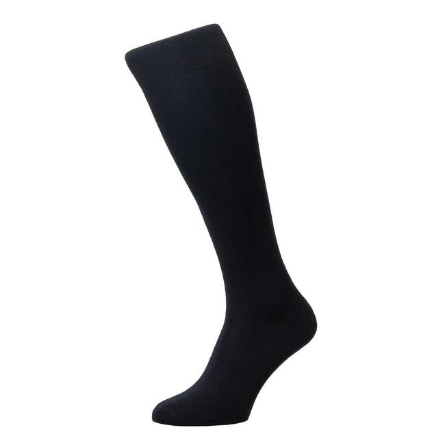 Pantherella OTC Socks Navy Cotton Sackville