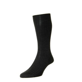 Pantherella Socks Charcoal Merino Wool Laburnum