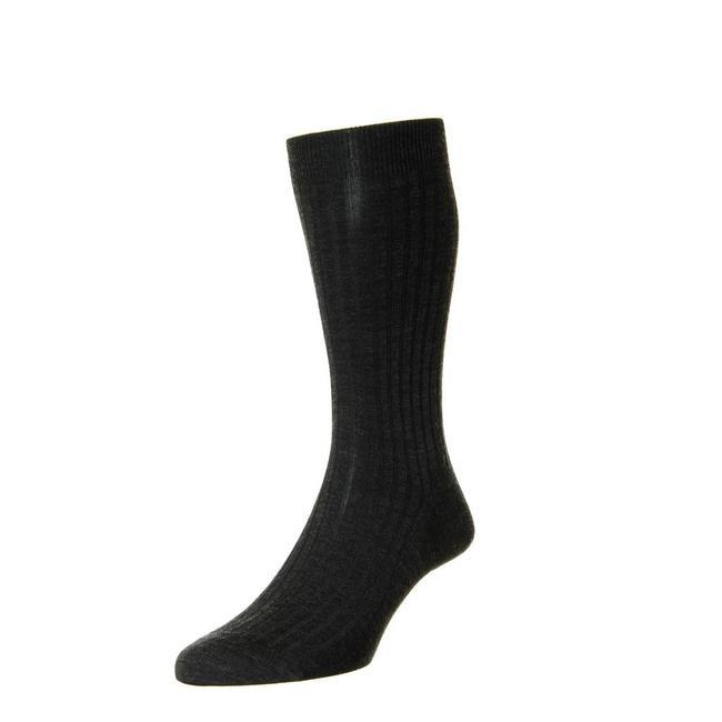 Pantherella Socks Charcoal Merino Wool Laburnum