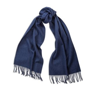 Begg & Co Lambswool Angora Scarf Denim