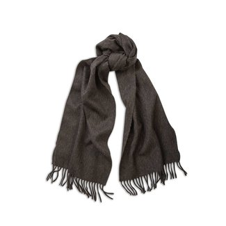 Begg & Co Lambswool Angora Scarf Charcoal