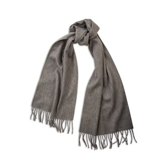 Begg & Co Lambswool Angora Scarf Derby Grey