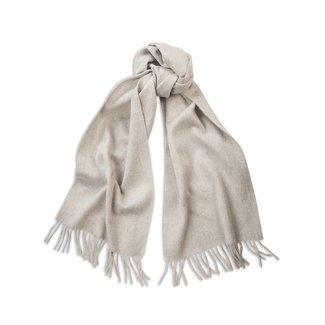 Begg & Co Lambswool Angora Scarf Silver