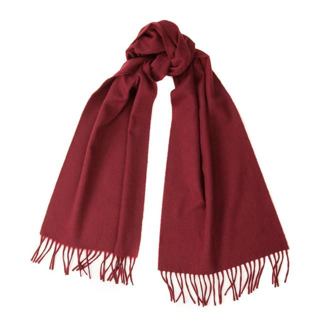 Begg & Co Lambswool Angora Scarf Burgundy