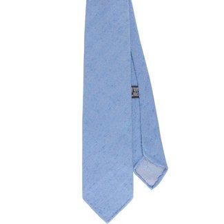 Drake's Krawatte Hellblau Herringbone Shantung Seide