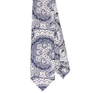 Drake's Krawatte Seide Paisley Blau