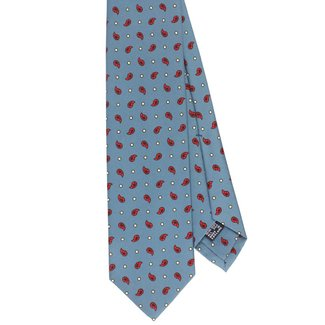Drake's Krawatte Hellblau Paisley Motiv Seide