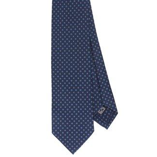Drake's Krawatte Blau Blumenmotiv Seide