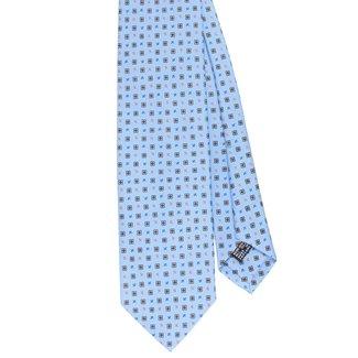 Drake's Krawatte Hellblau Blumenmotiv Seide
