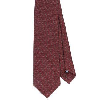 Drake's Tie Light Burgundy Flower Print Silk
