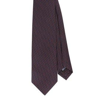 Drake's Krawatte Dunkelblau Blumenmotiv Seide