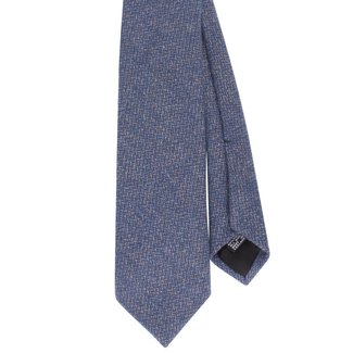 Drake's Tie Blue Woven Wool