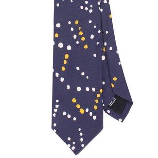 Drake's Krawatte Blau Painted Spots Motiv Seide