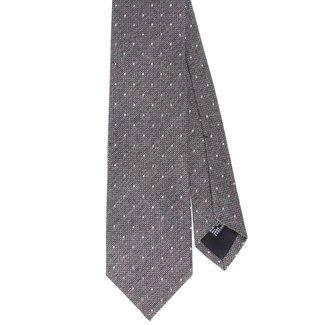 Drake's Tie Grey Polka Dots Silk