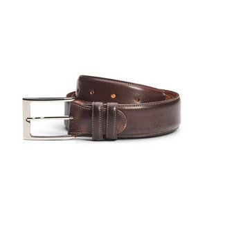 Carlos Santos Calf Leather Belt Coimbra Patina