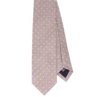 Drake's Krawatte Beige Pin Dots Seide