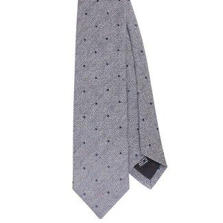 Drake's Tie Navy Pin Dots Silk