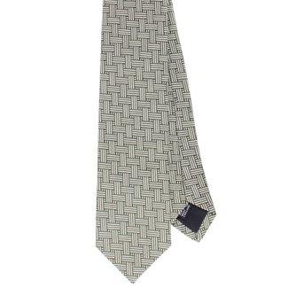Drake's Krawatte Grün Interweave Seide