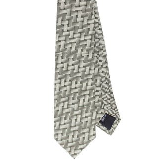 Drake's Tie Green Interweave Silk