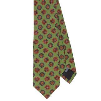 Drake's Krawatte Grün Blumenmotiv Seide