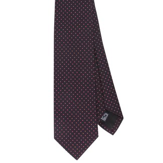 Drake's Tie Navy Block Pattern Silk