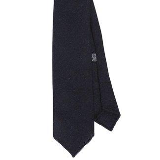 Drake's Krawatte Dunkelblau Donegal Motiv Wolle
