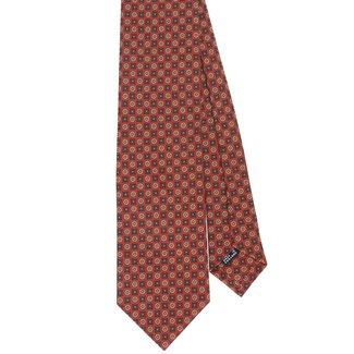 Drake's Tie Red Vintage Flower Print Silk