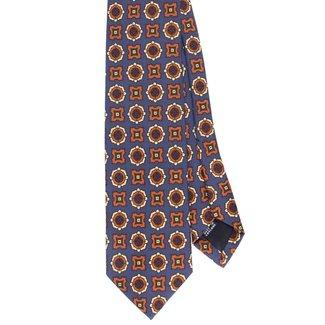 Drake's Krawatte Lila Blumenmotiv Seide