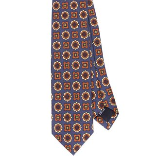 Drake's Tie Purple Flower Print Silk