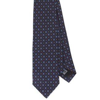 Drake's Tie Navy Flower Print Silk
