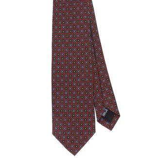 Drake's Krawatte Braun Blumenmotiv Seide