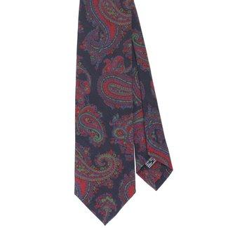 Drake's Krawatte Dunkelblau Vintage Paisley Motiv Seide