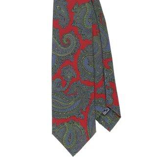 Drake's Tie Red Vintage Paisley Print Silk