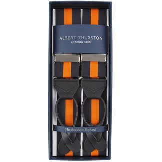 Albert Thurston Hosenträger Schwarz Orange