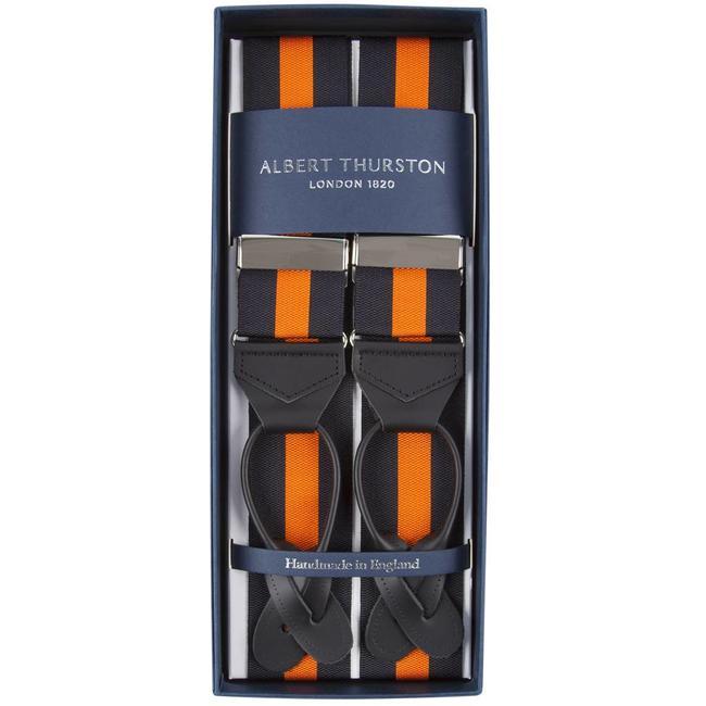 Albert Thurston Braces Black Orange