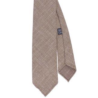 Drake's Krawatte Beige Gewebte Wolle und Seide