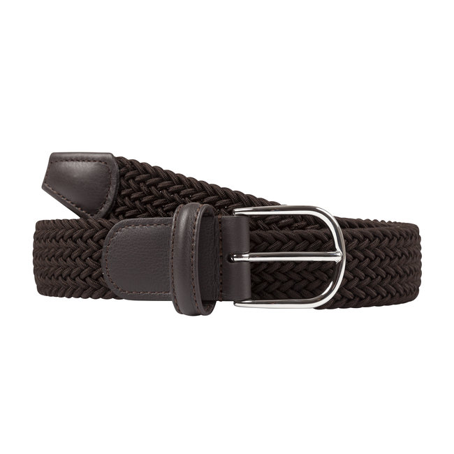Anderson's Woven Stretch Belt Dark Brown
