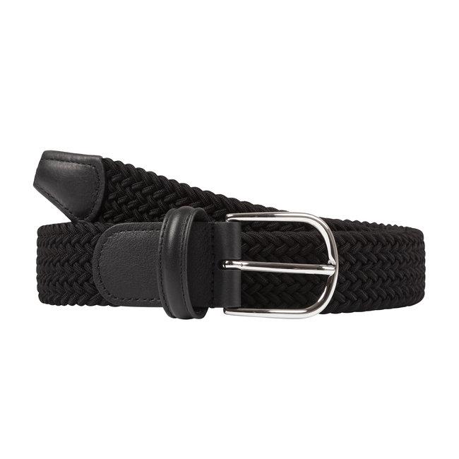 Anderson's Gewebter Stretchgürtel Schwarz