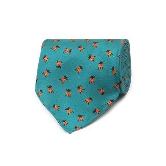 Drake's Tie Green Ladybird Print Silk