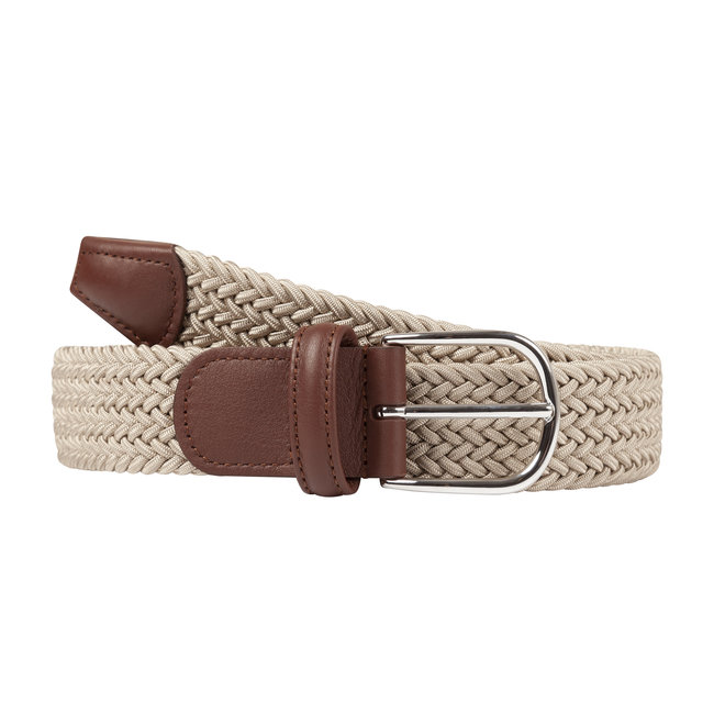 Anderson's Woven Stretch Belt Beige