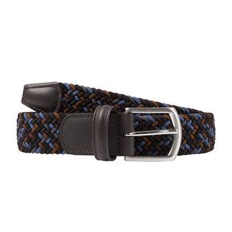 Anderson's Gewebter Stretchgürtel Blau Mix