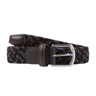 Anderson's Woven Stretch Belt Blue Mix